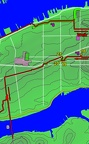 2 - Center Strip - Manhattan Traverse w GPS track
