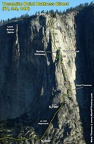 2012-09-16 - 12a - Yosemite Point Buttress   Lost Arrow Spire from P2 of SS - annotated