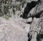 2011-05-27 - 13 - Devils Tower - Looking down Durrance Route P5   P6