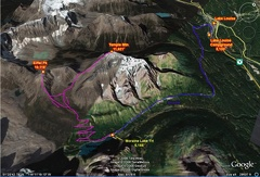 2c - Lake Louise Area - Moraine Lake - GE Route Map