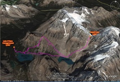 02b2 - Lake Louise Area - Abbot Pass - GE Route Map
