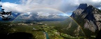 2008-07-30 - 09 - Mt Rundle   Rainbow Panorama