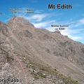 2008-07-31 - 55 - Mt Edith from Cory Pass - annotation